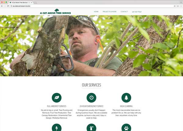 A Cut Above Tree Service Website Redesign and SEO