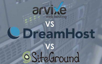 Shared Hosting Showdown - Arvixe vs. Dreamhost vs. Siteground Header