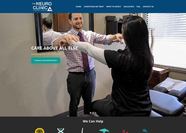 The Neuro Clinic Home Page Redesign - Elevate Creative Southern Oregon Creative Agency
