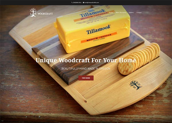Elevate Creative Single Page Website Design - CHwoodcrafts.com
